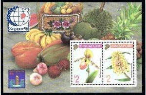 Singapore 686b MNH 1994 Flowers S/S    (ap6415)