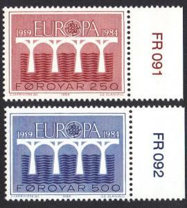 Faroe Islands 1984 MNH Europa complete