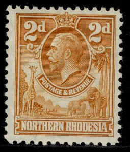 NORTHERN RHODESIA GV SG4, 2d yellow-brown, M MINT.