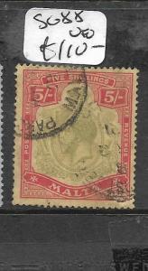 MALTA  (P2708B) KGV 5/-  SG 88  VFU