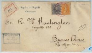 78982 - BOLIVIA - POSTAL HISTORY -  REGISTERED COVER to ARGENTINA 1913