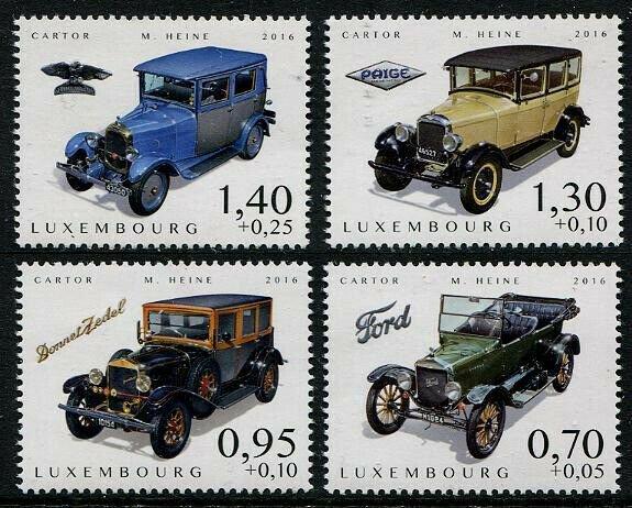 HERRICKSTAMP NEW ISSUES LUXEMBOURG Sc.# B494-97 Classic Cars 2016