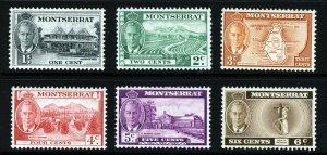 MONTSERRAT King George VI 1951 Pictorial Part Set SG 123 to SG 128 MINT