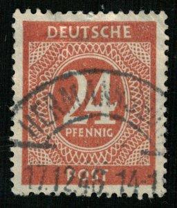 Deutsche Post, 24 Pfennig, This postage stamp has the date 17.12.46 (3871-Т)