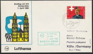 SWITZERLAND 1965 Lufthansa first flight to Germany..........................H278