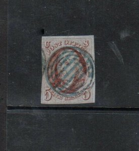 USA #1d Very Fine Used With Rare Canadian Target Cancel **With Certificate**