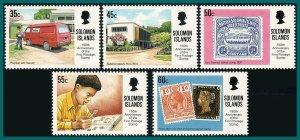 Solomon Islands 1990 Penny Black, MNH #673-677,SG677-SG681