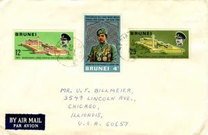 Brunei 4c Sultan Bolkiah Coronation and 12c and 25c Sultan Bolkiah Royal Asse...