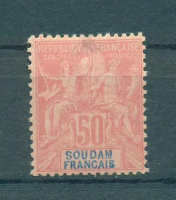 French Sudan sc# 16 (tuin) mhr cat value $52.50