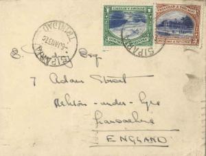 Trinidad 1c First Boca and 2c Agricultural College 1937 Siparia, Trinidad to ...