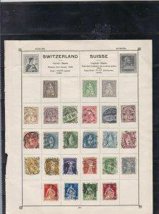 switzerland stamps page ref 17362