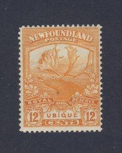 Newfoundland Mint Stamp #123-12c Caribou MH F/VF Guide Value= $70.00