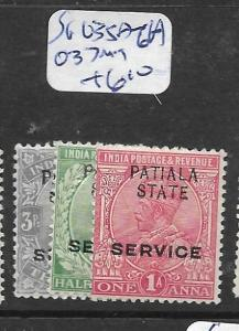 INDIA PATIALA (P0702B)  KGV SERVICE SG O35A-6A, O37  MOG