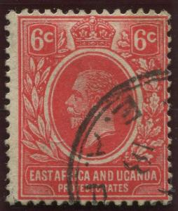 East Africa & Uganda - Scott 42- KGV Definitive -1912 - FU- Single 6c Stamp