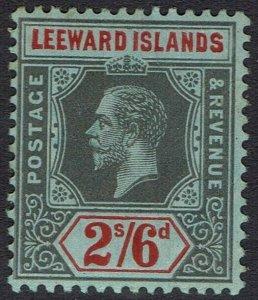 LEEWARD ISLANDS 1912 KGV 2/6 WMK MULTI CROWN CA