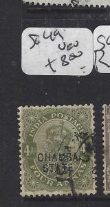 INDIA  CHAMBA   (PP0707B)  KGV  4A  SG 49   VFU
