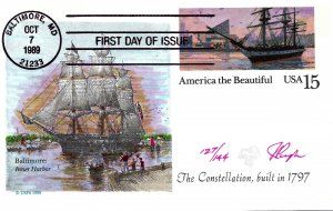 Pugh Designed/Painted America the Beautiful FDC...127 of 144 created!
