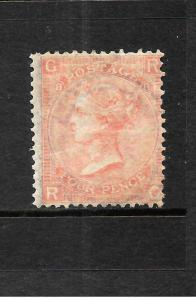 GREAT BRITAIN  1865-67  4d    QV   MLH   PLATE 8  SG 94