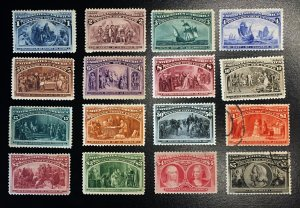 230 - 245 Complete Columbians, Updated Listing! Magnificent Vic's Stamp Stash