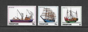 SHIPS - SINGAPORE #164-6   MNH