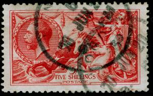 SG416, 5s rose-red, USED. Cat £135.