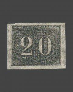 VINTAGE: BRAZIL 1850 BH SCOTT # 22 $ 120 LOT # BRA1850B6