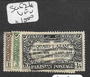 PAKISTAN (P2702B) JINNAH SG 52-4  VFU