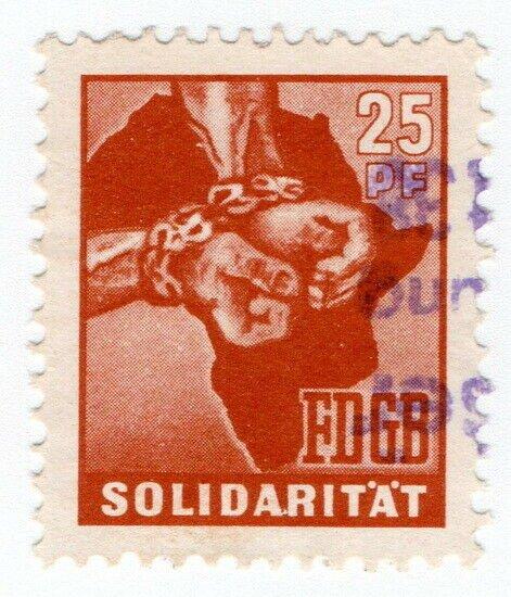 (I.B) East Germany Revenue : FDGB Union Dues 25pf (Chains)