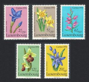 Luxembourg Flowers 2nd issue SG#976-980 MI#936-940