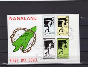 Nagaland (India) 1982 WORLD CUP FOOTBALL SPAIN Set Imperforated FDC