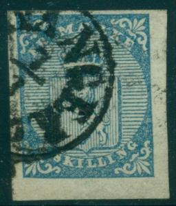 NORWAY #1 (1) 4sk Lion, used w/Stavanger cancel, VF, 4 margin stamp