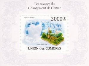 COMORO ISLANDS 2010 YT#BL.256  CLIMATE CHANGE Souvenir Sheet MNH