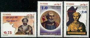 HERRICKSTAMP NEW ISSUES TUNISIA Sc.# 1716-18 Three African Popes