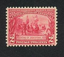 U.S. #329 MINT VF OG VLH Cat $28