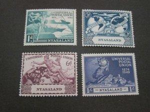 Nyasaland 1949 Sc 87-90 UPU MNH