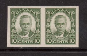 Canada #190a XF/NH Scarce Imperforate Pair