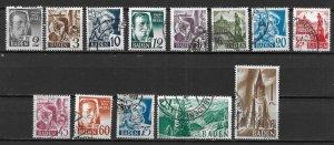 Germany 5N1-13, Various set Used (z2)