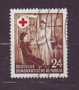 J23305 JLstamps  germany DDR set of 1 used #177 red cross nurse