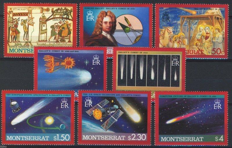 Montserrat 1986, Space, Halley's Comet set MNH
