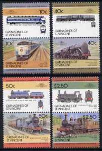 St Vincent - Grenadines 1985 Locomotives #4 (Leaders of t...