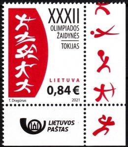LITHUANIA 2021-11 Summer Olympic Games Tokyo-2020. Post Logo CORNER, MNH