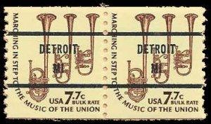 PCBstamps    US #1614a Coil Pair(=) 15.4c(2x7.7c) Saxhorns, 1976, MNH, (1)