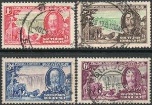 SOUTHERN RHODESIA-1935 Silver Jubilee Set Sg 31-34 FINE USED V45008
