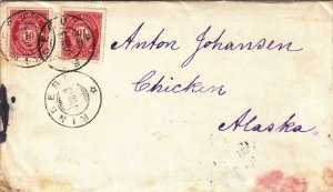 1913, Norway to Chicken, Alaska W/Letter, See Remark (30702)