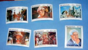 Nicaragua - 1471-76, MNH Set. Int. Music Year. SCV - $5.60