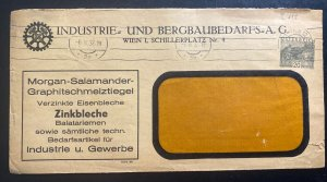1932 Vienna Austria Commercial window Stationery Cover