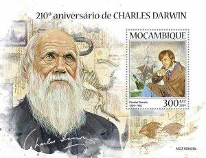 Z08 IMPERF MOZ190428b MOZAMBIQUE 2019 Charles Darwin MNH ** Postfrisch