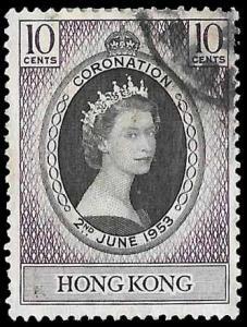 Hong Kong SC 184 - Elizabeth II Coronation - Used - 1953