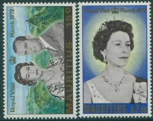 Mauritius 1972 SG455-456 Royal Visit QEII MNH