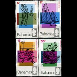 BAHAMAS 1968 - Scott# 272-5 Tourist Set of 4 NH